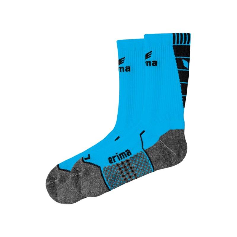 Erima Short Socks Trainingssocken Hellblau Schwarz - blau