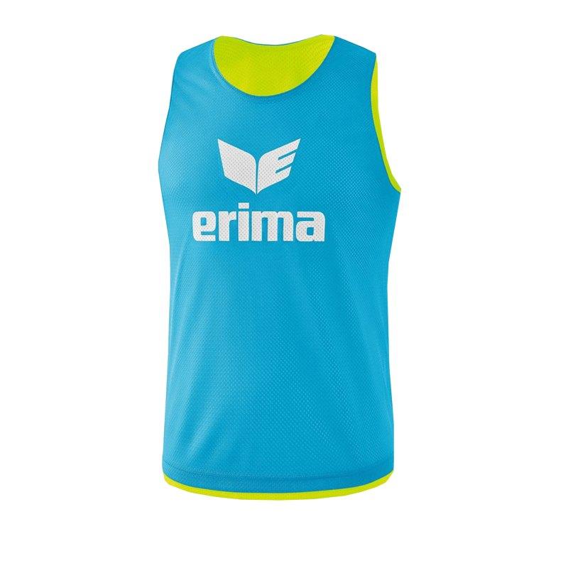 Erima Wende-Markierungshemd Hellblau Gelb - hellblau