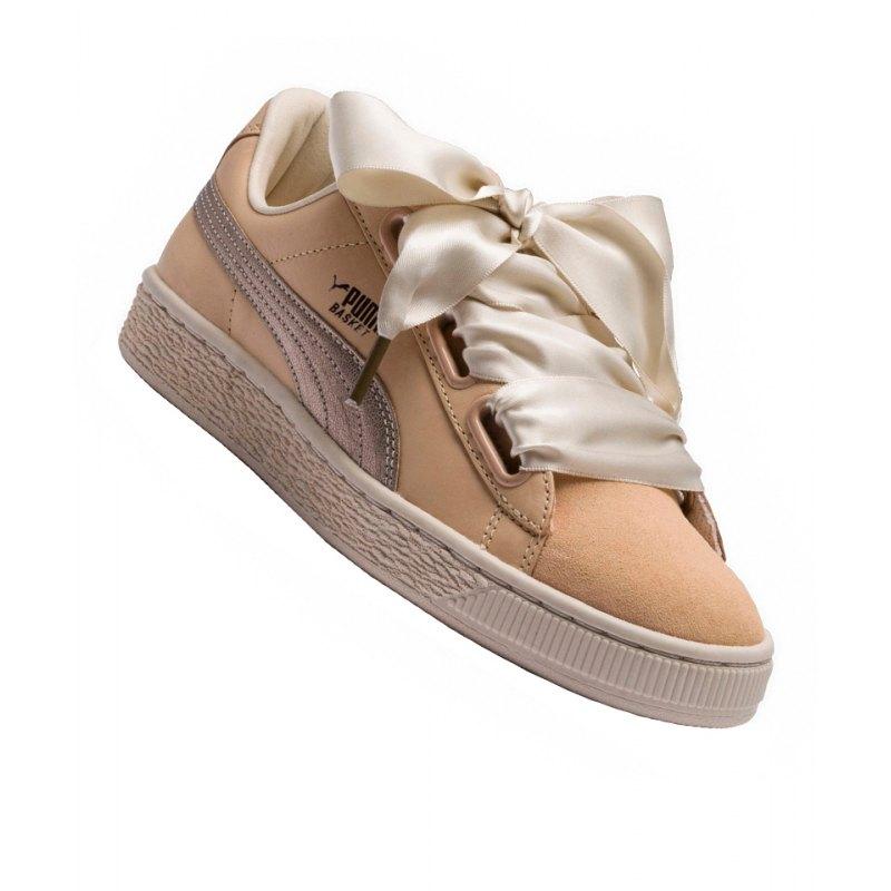PUMA Basket Heart Up Sneaker Damen Beige F01 - beige