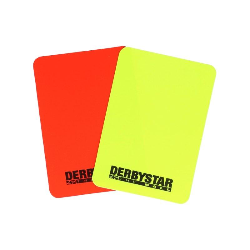 Derbystar Schiedsrichterkarten Rot Gelb - rot