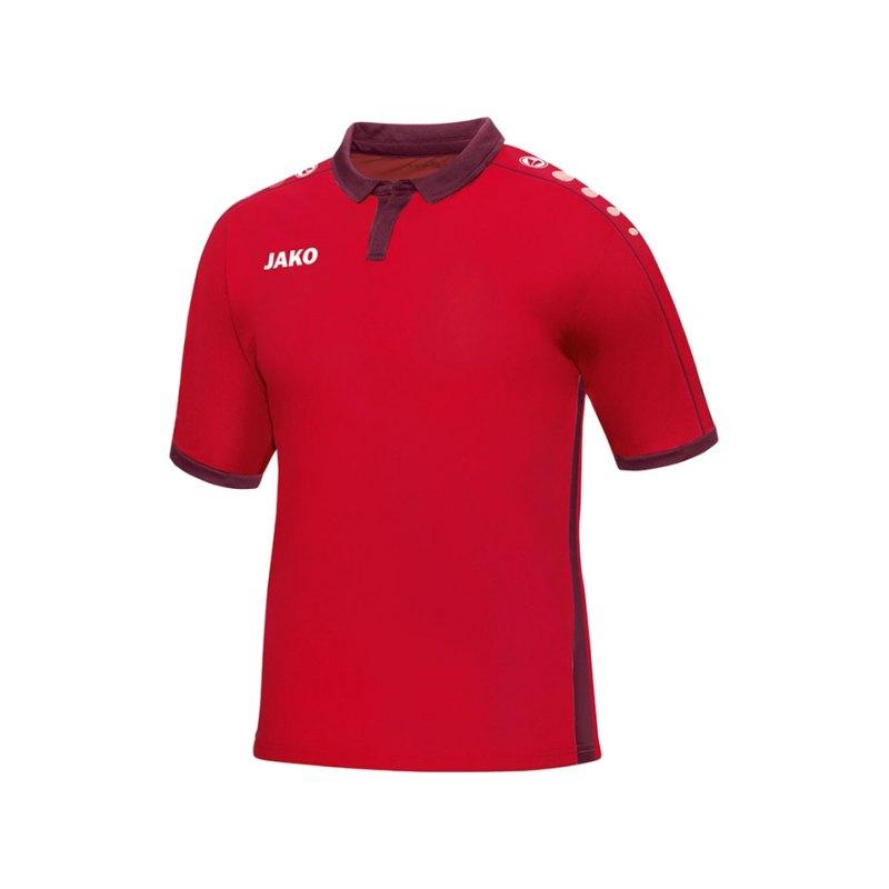 Jako Kurzarmtrikot Derby Kinder F01 Rot - rot