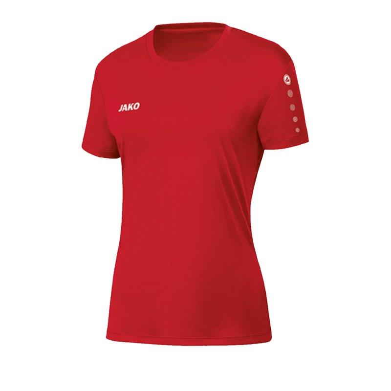 JAKO Team Trikot Damen Rot F01 - rot