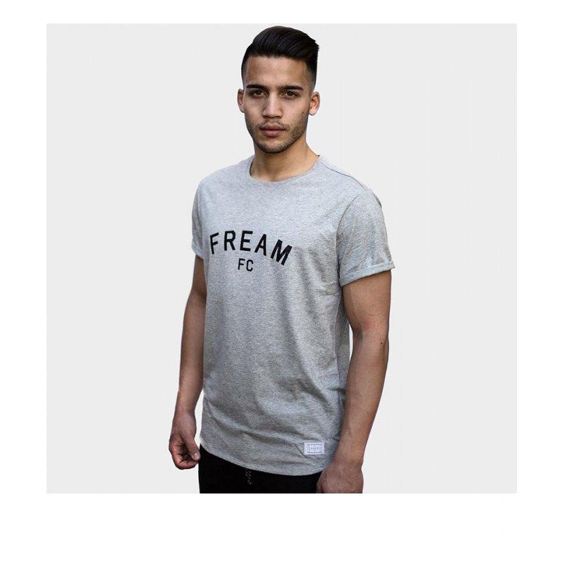 FREAM T-Shirt Basicline Crew 1 Grau - grau