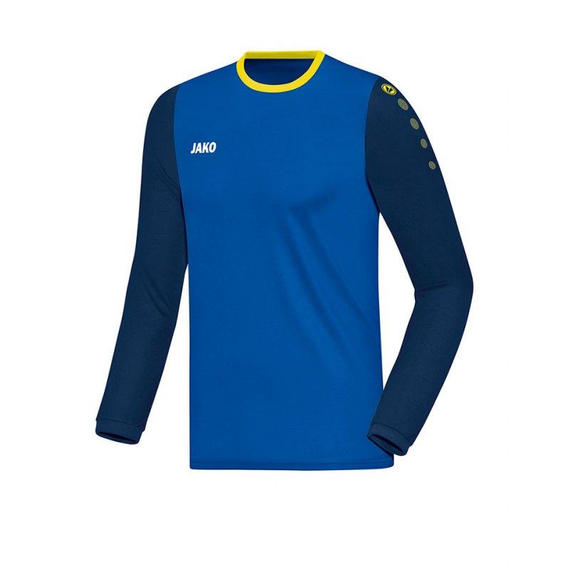 Jako Trikot Leeds langarm Kinder Blau Gelb F43 - blau