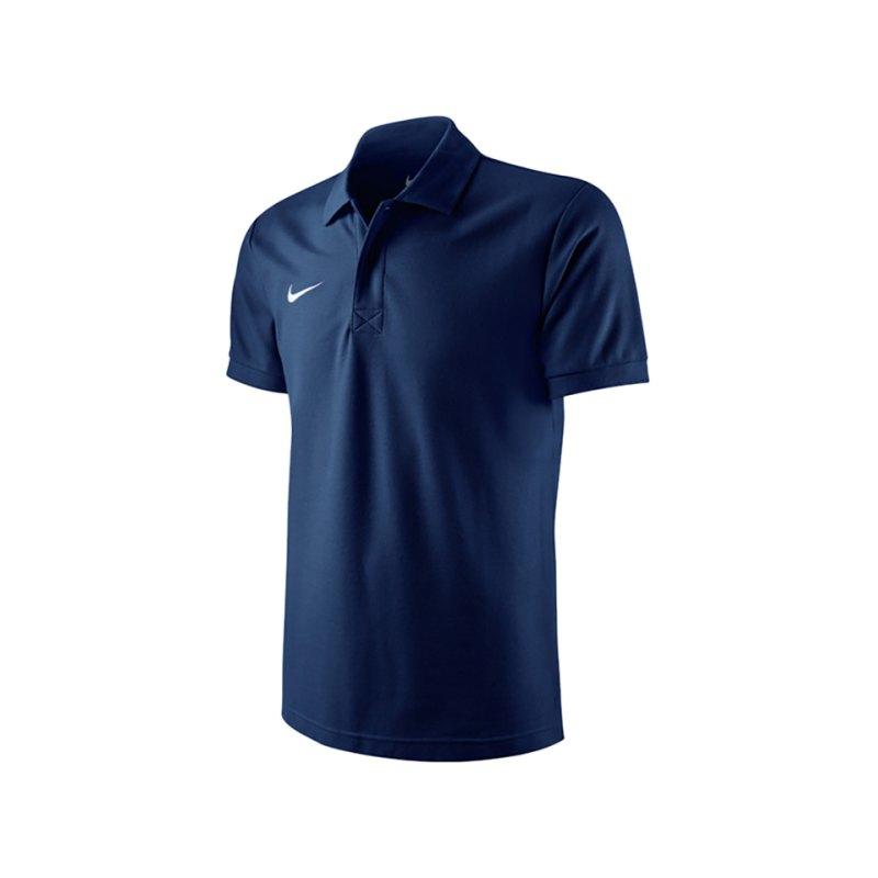 Nike TS Core Poloshirt Kids Navy F451 - blau
