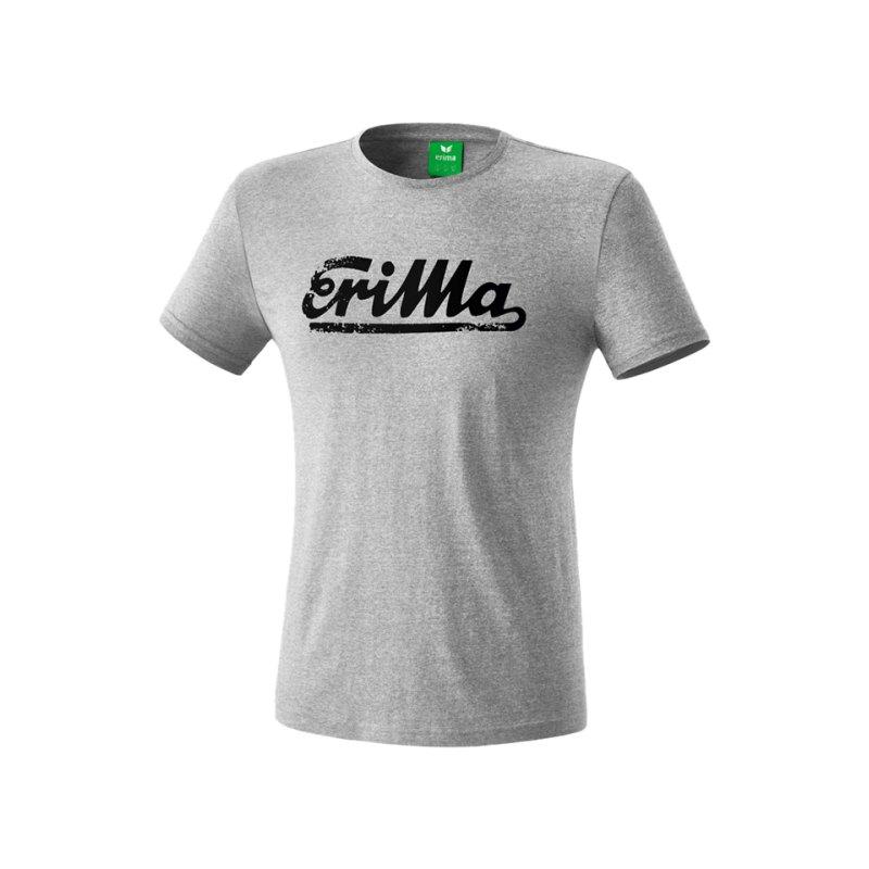 Erima Retro T-Shirt Kids Grau Schwarz - grau