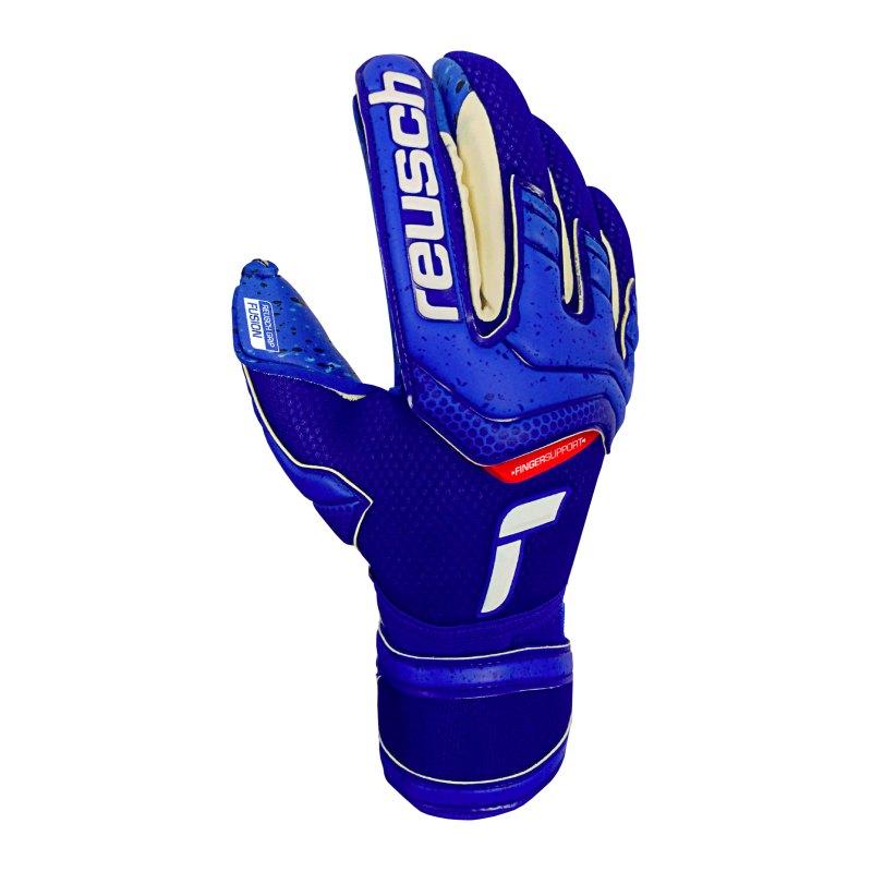 Reusch Attrakt Fusion Finger Support TW-Handschuhe F4010 - blau