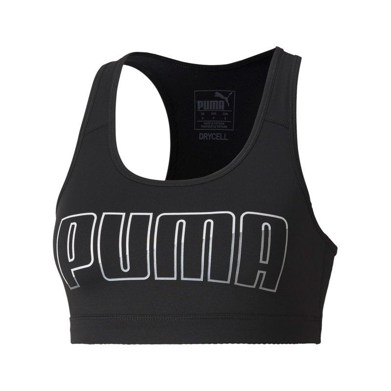 PUMA 4Keeps Sport-BH Damen Schwarz F005 - schwarz