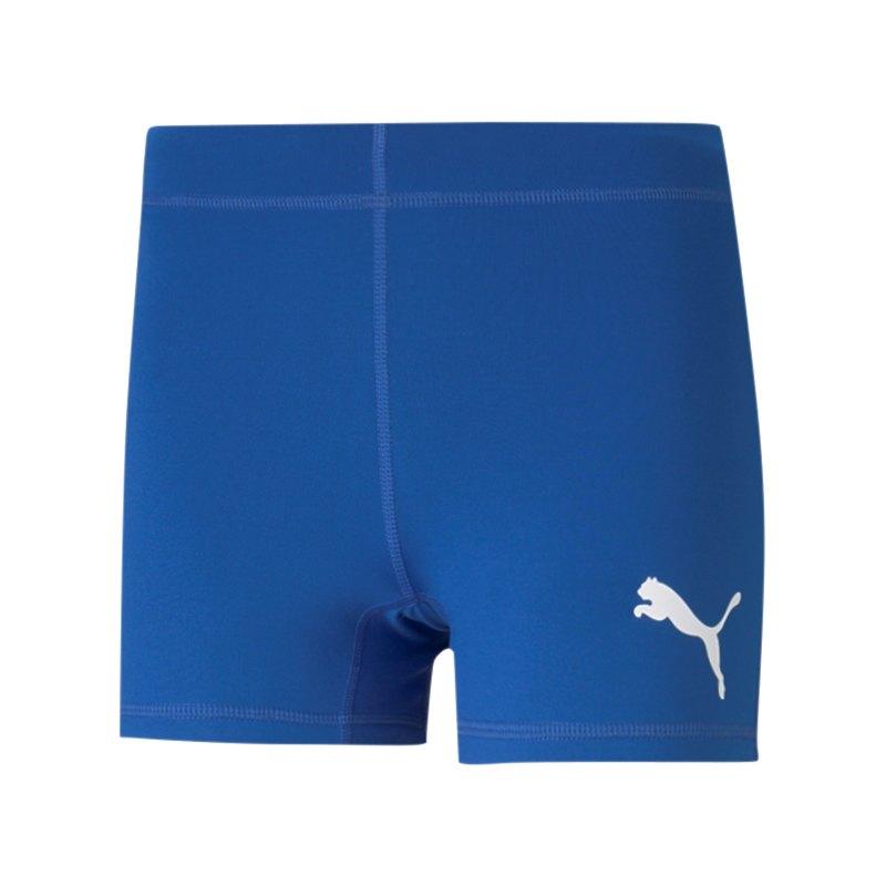 PUMA Cross the Line Short Running Damen Blau F04 - blau