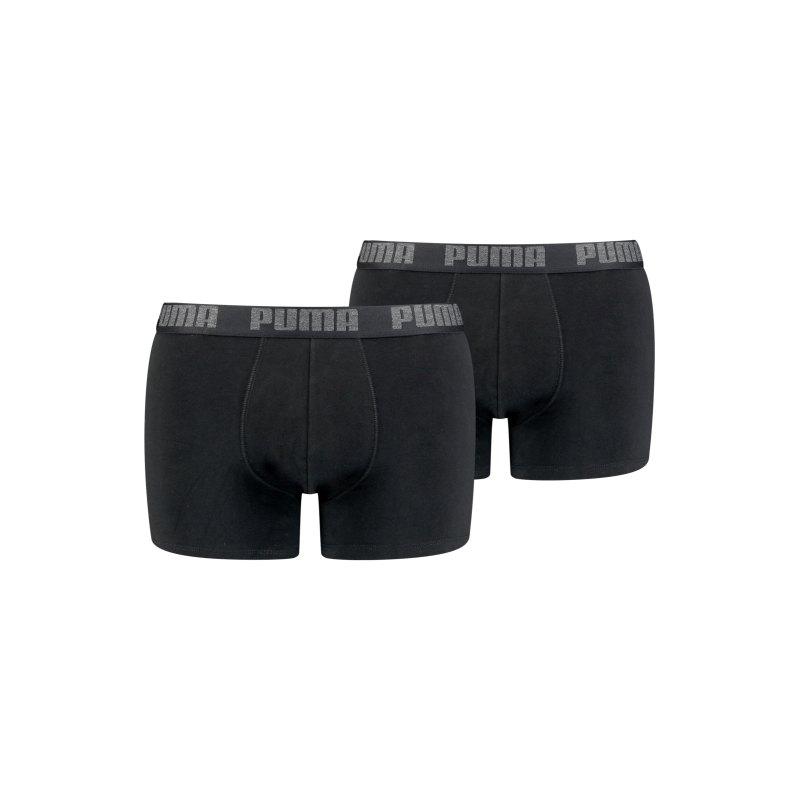 PUMA Boxer Basic 2er Pack Schwarz F230 - schwarz