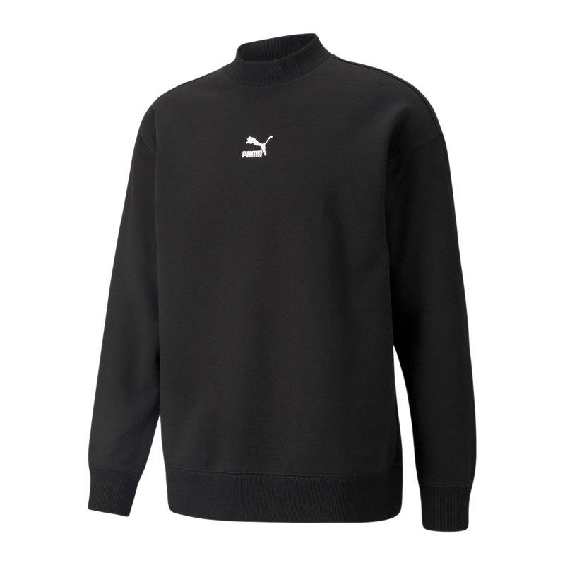 PUMA Classics Highneck Crew Sweatshirt Schwarz F01 - schwarz