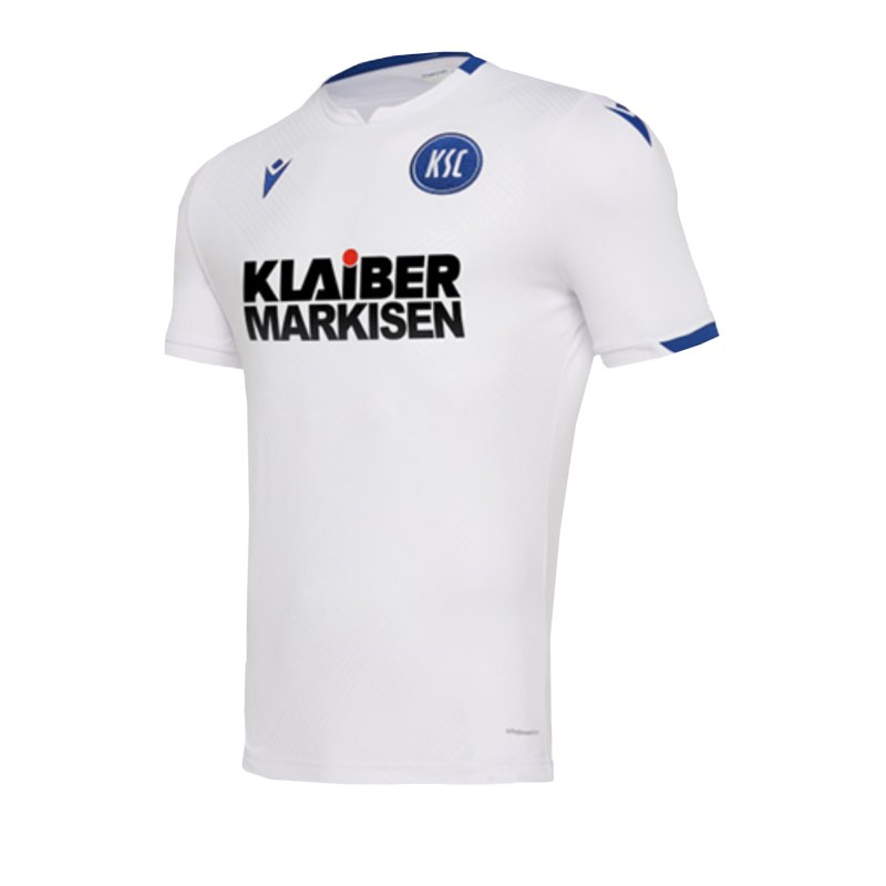 Macron Karlsruher SC Auth Trikot Away 19/20 Kids Weiss - weiss