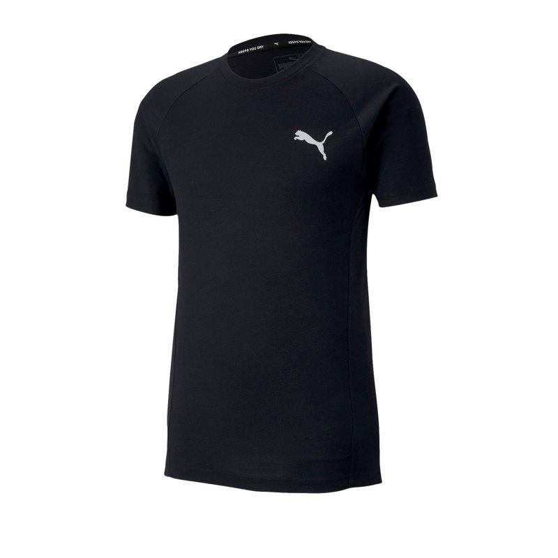 PUMA Evostripe Tee T-Shirt Schwarz F01 - schwarz
