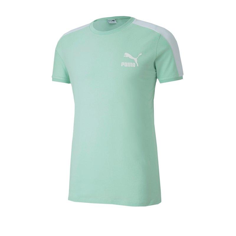 PUMA Iconic T7 Slim Tee T-Shirt Grün F32 - Gruen