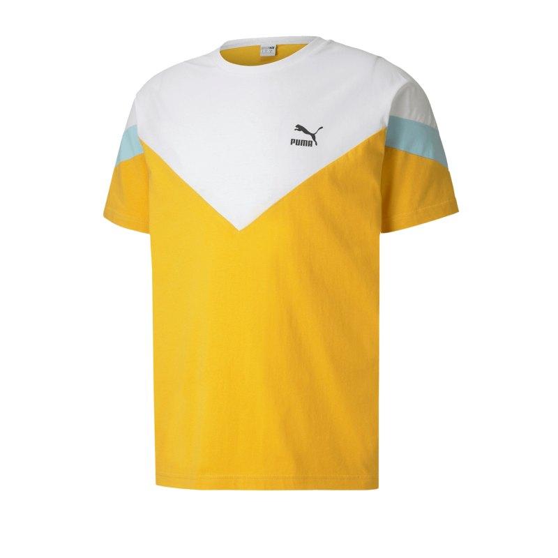PUMA Iconic MCS T-Shirt Gelb F25 - gelb