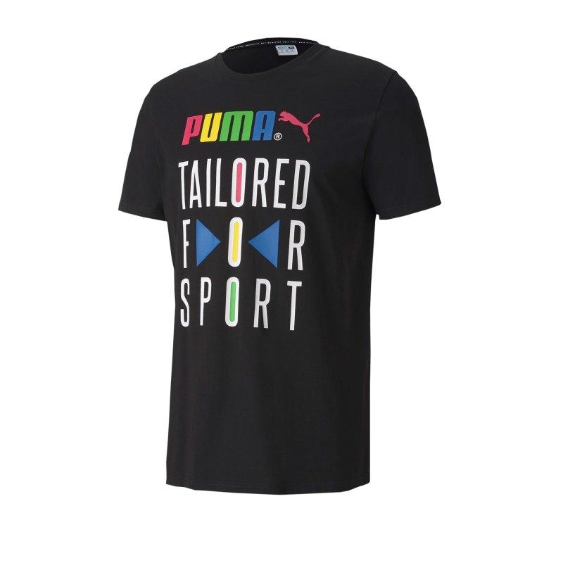 PUMA TFS Graphic T-Shirt Schwarz F01 - schwarz