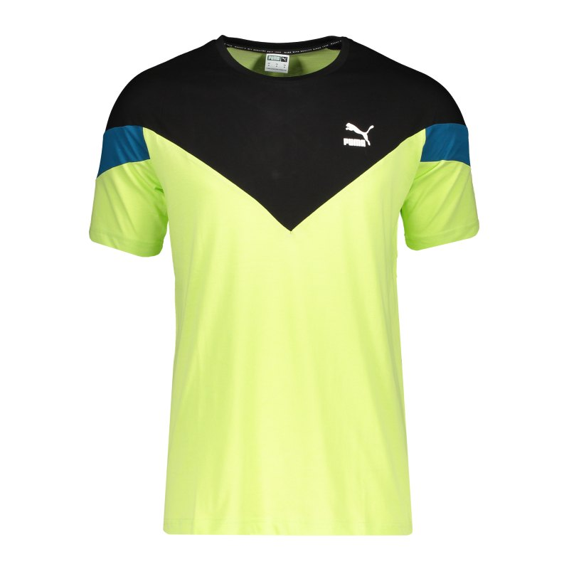 PUMA Iconic MCS T-Shirt Grün F34 - gelb