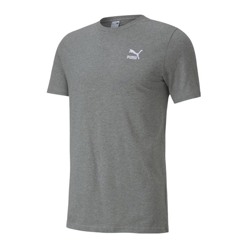 PUMA Classic Logo Embr. Tee T-Shirt Grau F03 - grau