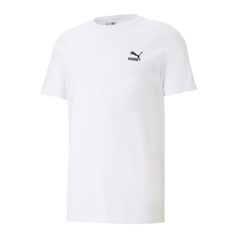 PUMA Classics Embro T-Shirt Weiss F02 - weiss