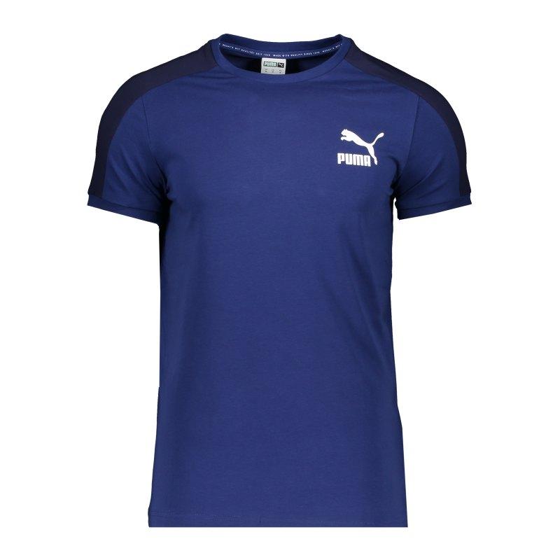 PUMA Iconic T7 T-Shirt Blau F12 - blau