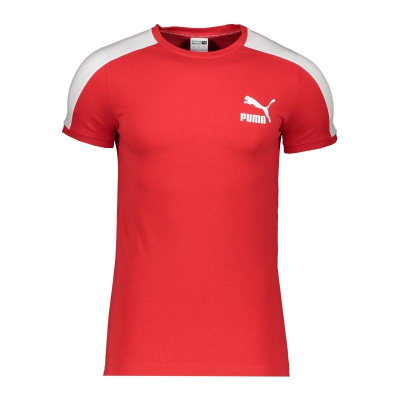 PUMA Iconic T7 T-Shirt Rot F11 - rot