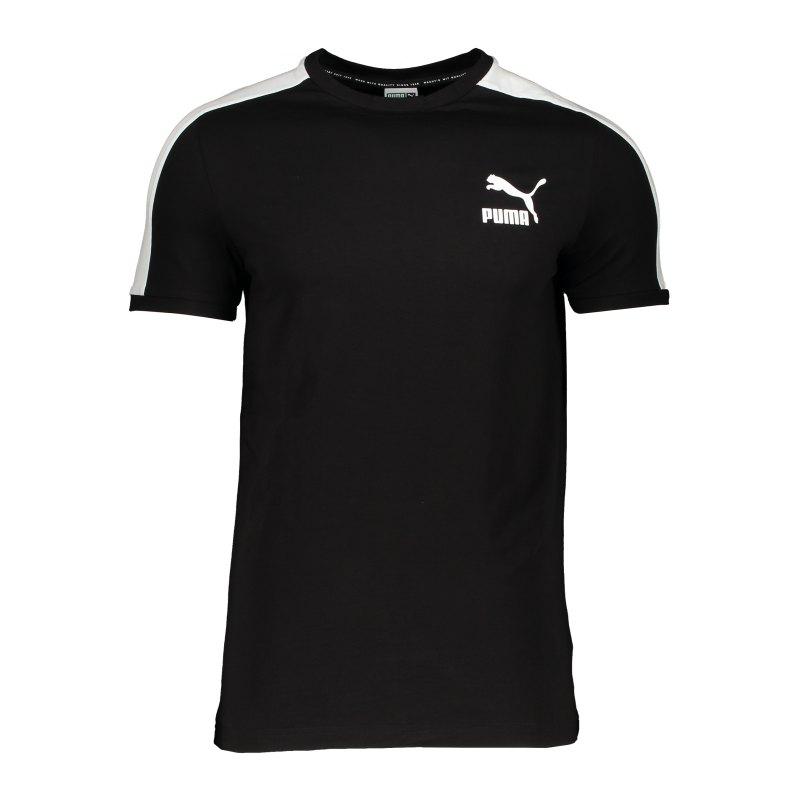 PUMA Iconic T7 T-Shirt Schwarz F01 - schwarz