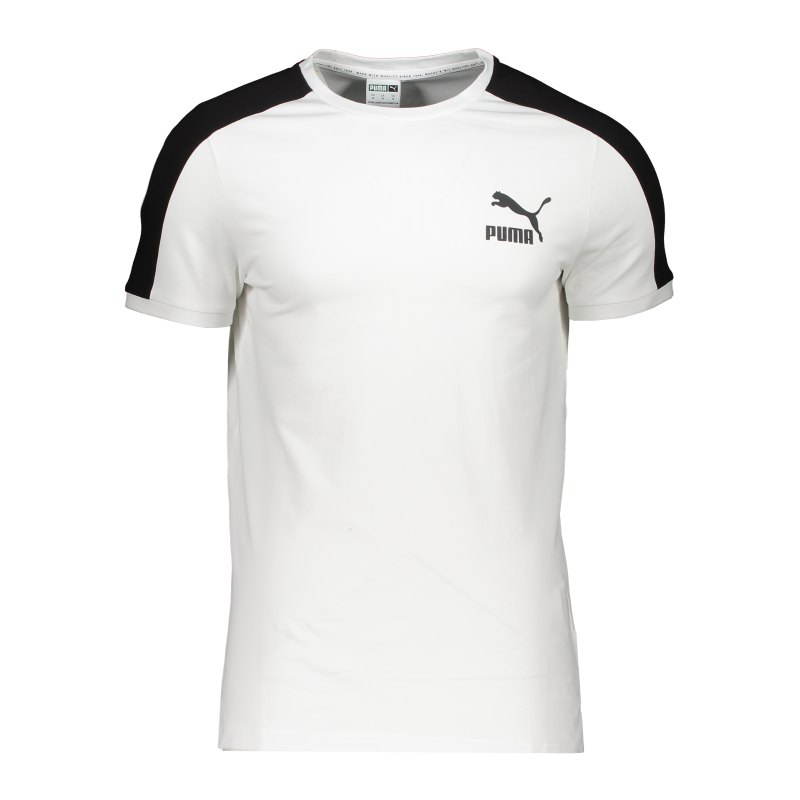 PUMA Iconic T7 T-Shirt Weiss F02 - weiss