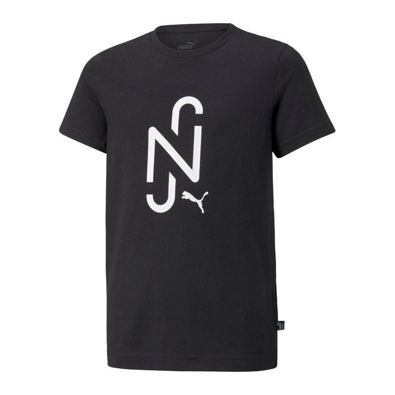 PUMA NJR 2.0 Logo T-Shirt Kids Schwarz F01 - schwarz