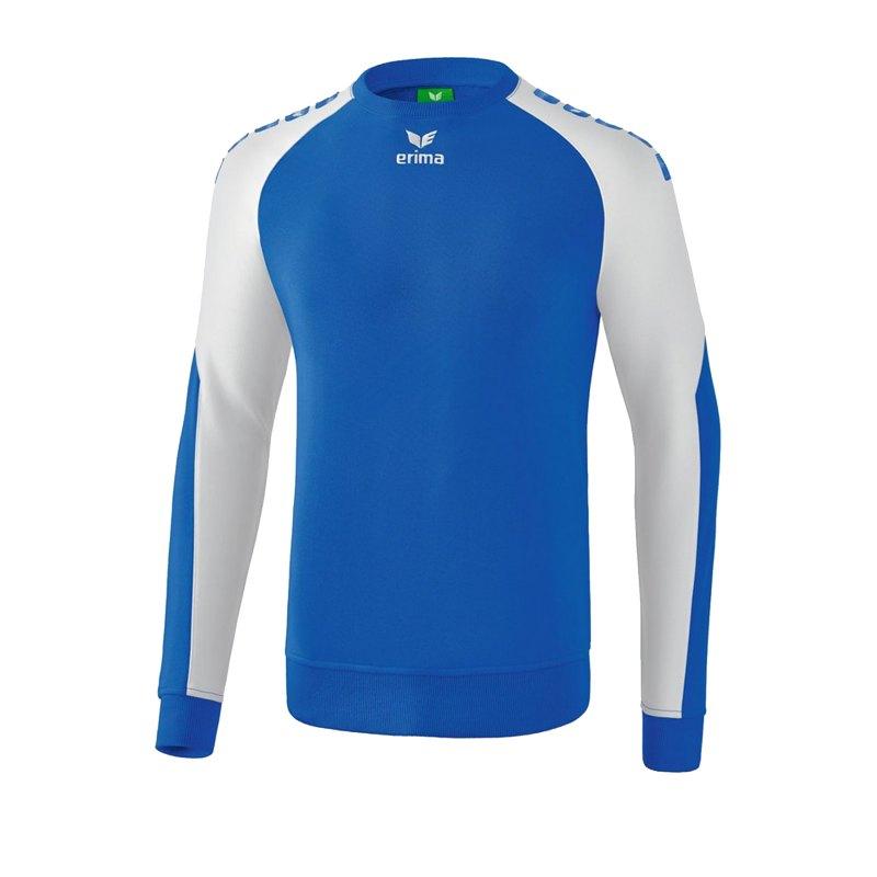 Erima Essential 5-C Sweatshirt Kids Blau Weiss - Blau