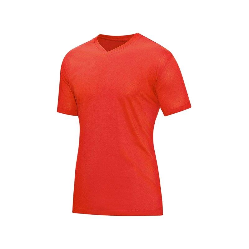 Jako V-Neck T-Shirt Orange F18 - orange