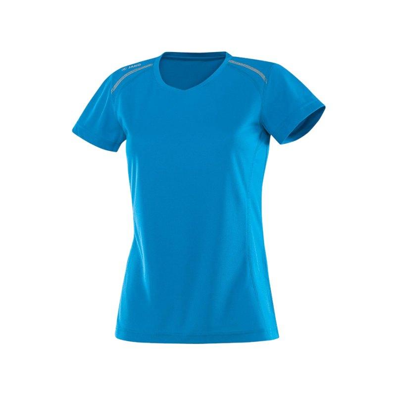 Jako T-Shirt Active Run Damen Blau F89 - blau