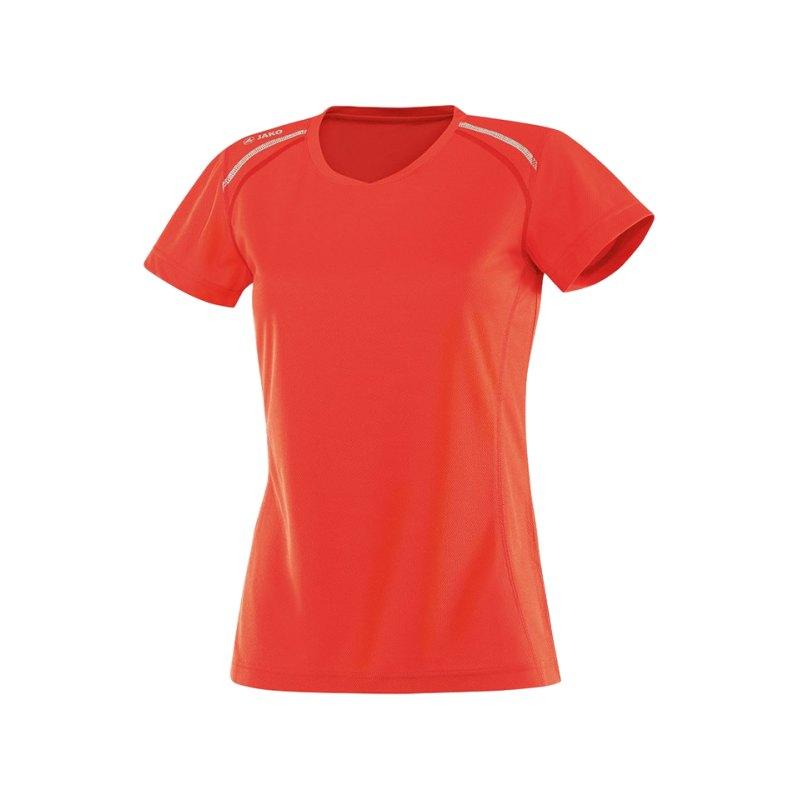 Jako T-Shirt Active Run Damen Orange F18 - orange