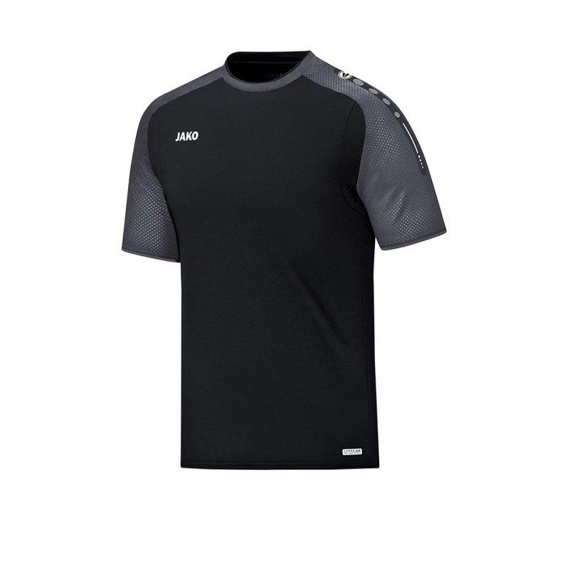 Jako T-Shirt Champ Kinder Schwarz Grau F21 - schwarz