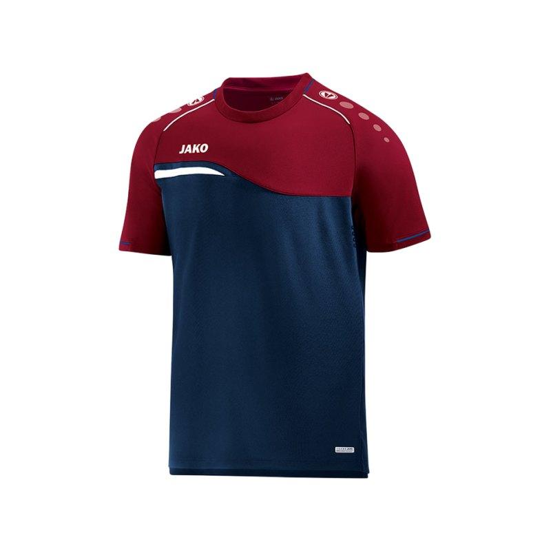 Jako Competition 2.0 T-Shirt Blau Rot F09 - blau