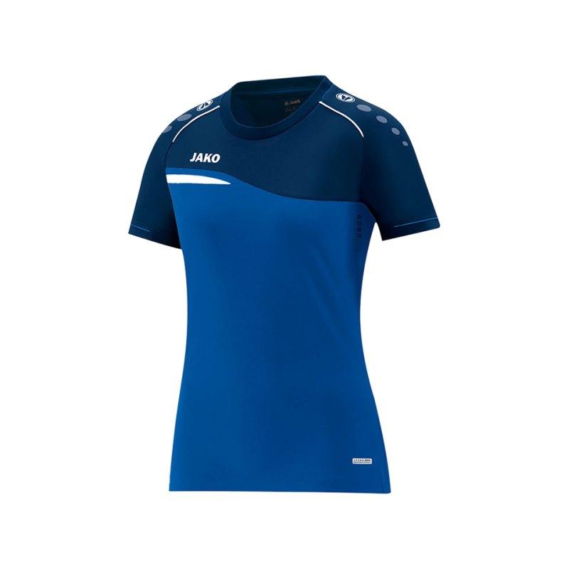 Jako Competition 2.0 T-Shirt Damen Blau F49 - blau
