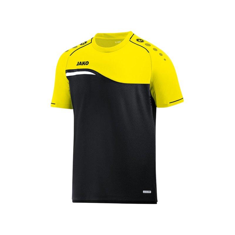 Jako Competition 2.0 T-Shirt Schwarz Gelb F03 - schwarz