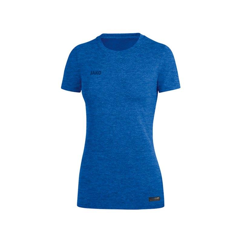 Jako T-Shirt Premium Basic Damen Blau F04 - Blau