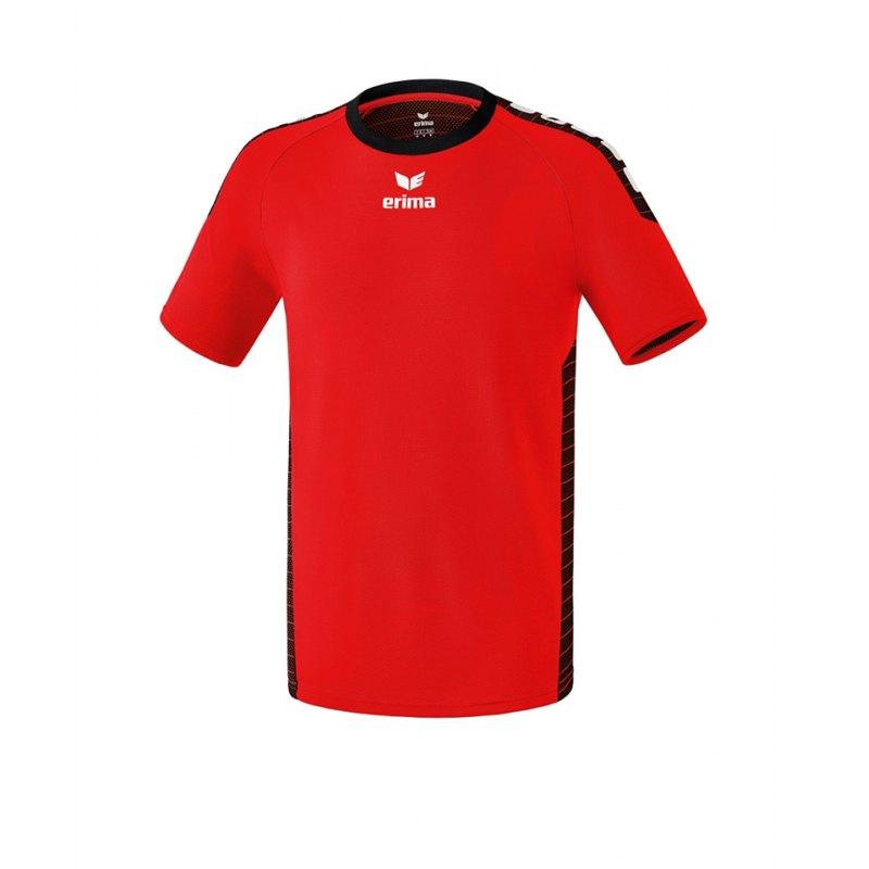 Erima Kurzarm Trikot Sevilla Kinder Rot Schwarz - rot