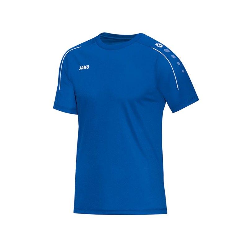 Jako T-Shirt Classico Blau Weiss F04 - blau
