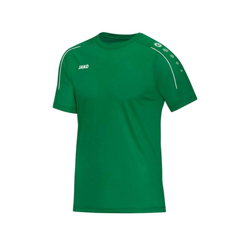 Jako T-Shirt Classico Grün Weiss F06 - gruen