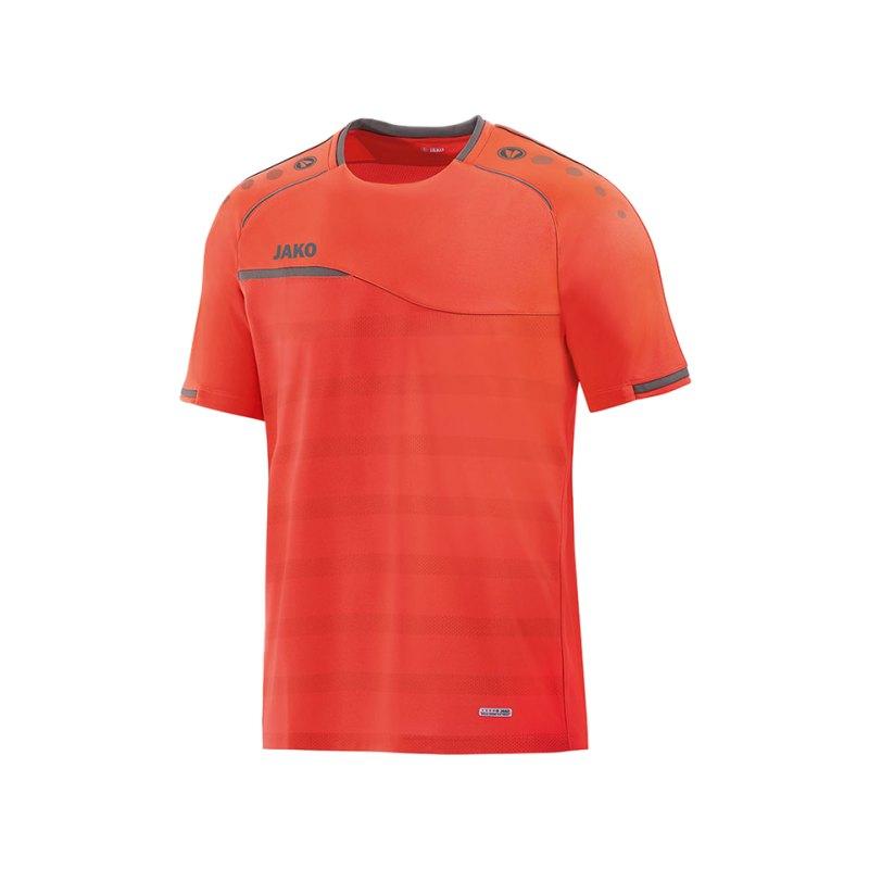Jako Prestige T-Shirt Orange Grau F40 - orange
