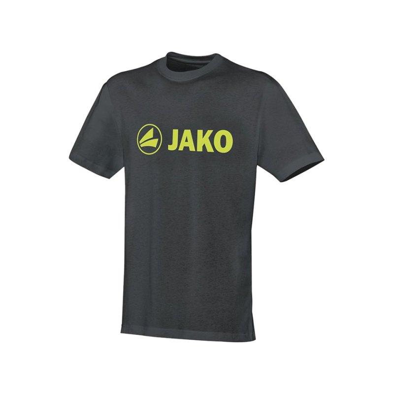 Jako T-Shirt Promo Grau Gelb F21 - grau