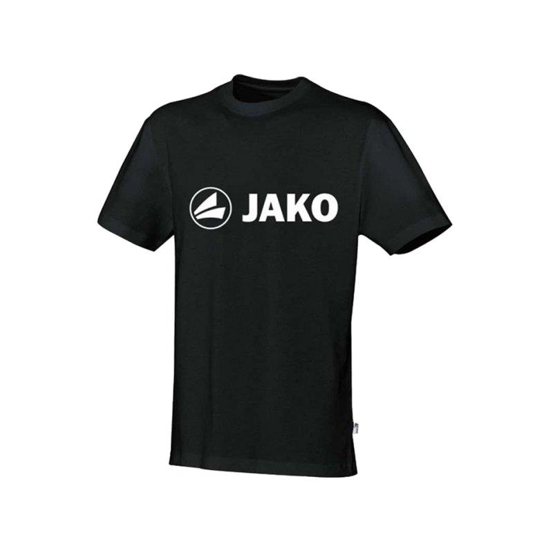 Jako T-Shirt Promo Kinder Schwarz Weiss F08 - schwarz