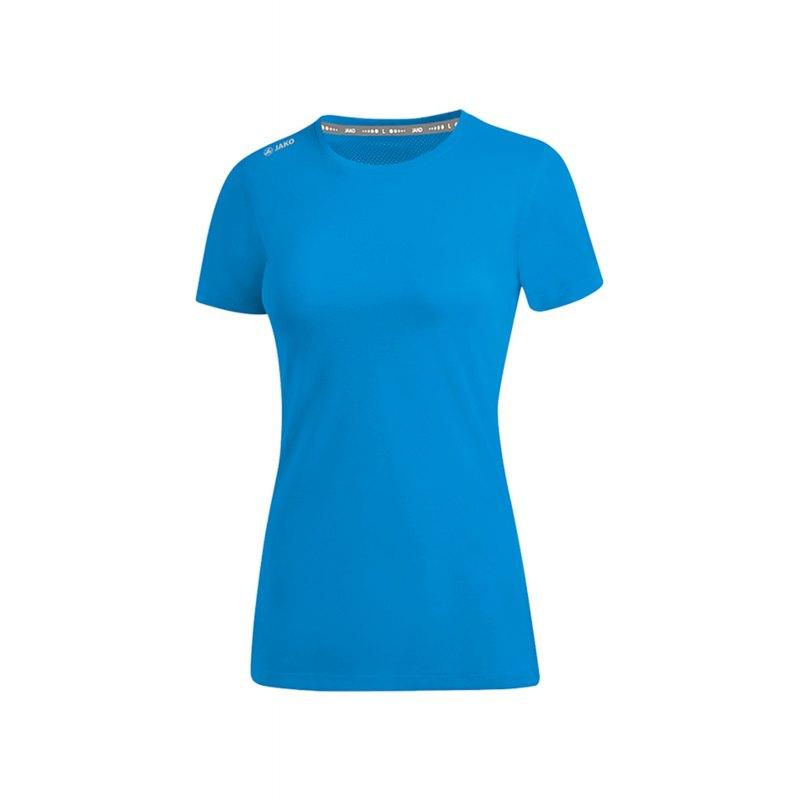 Jako Run 2.0 T-Shirt Running Damen Blau F89 - Blau
