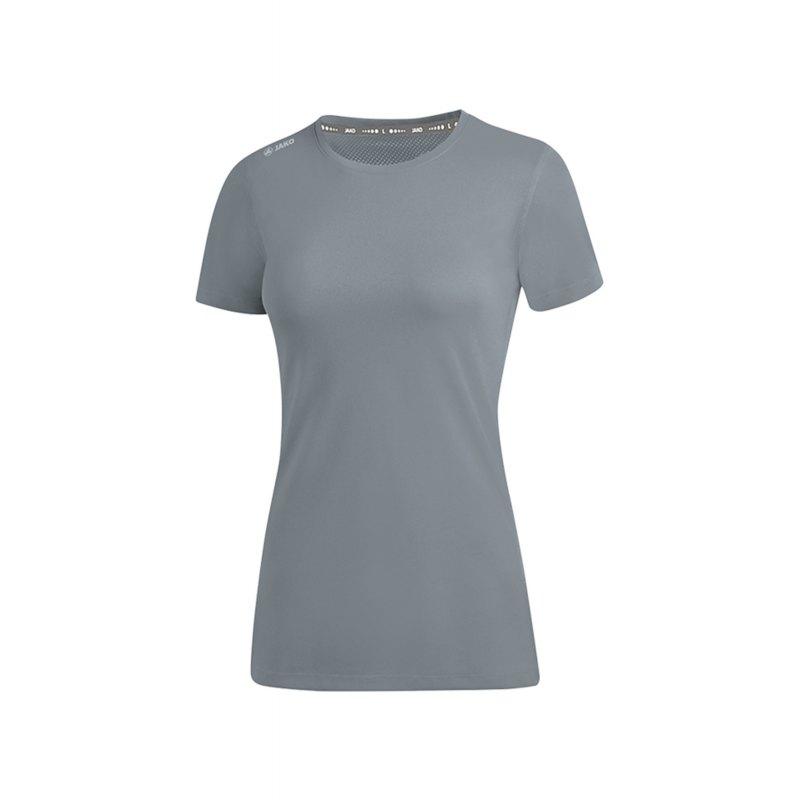 Jako Run 2.0 T-Shirt Running Damen Grau F40 - Grau