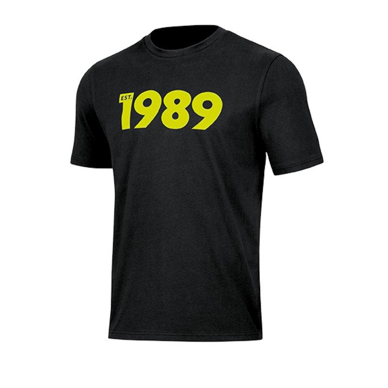 Jako Base 1989 T-Shirt Schwarz F08 - schwarz
