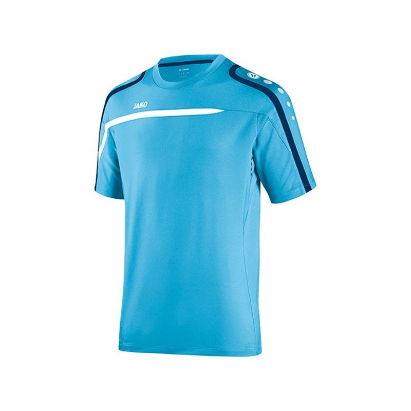 Jako T-Shirt Performance F45 Blau Weiss - blau