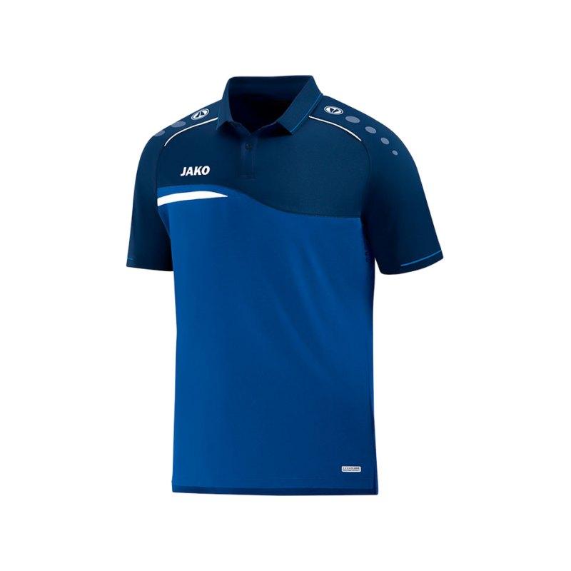 Jako Competition 2.0 Poloshirt Blau F49 - blau
