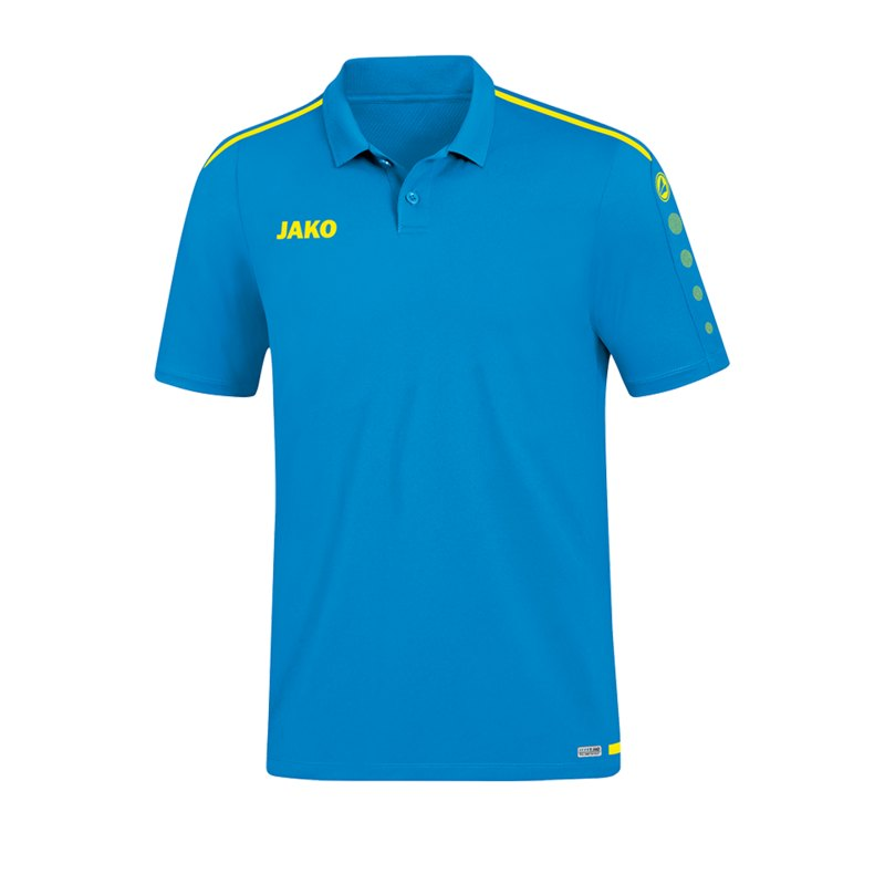 Jako Striker 2.0 Poloshirt Blau Gelb F89 - Blau