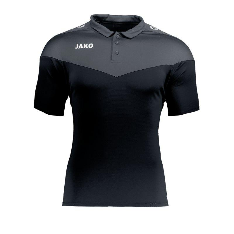 Jako Champ 2.0 Poloshirt Damen Schwarz F08 - schwarz